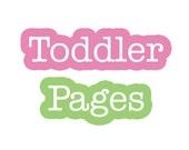 Toddler Years...57 Journaling Pages...Baby Memory Album...The Sweet Rhino