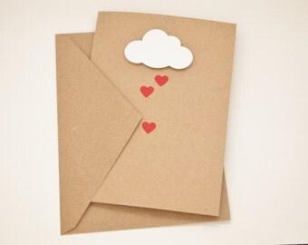 Raining Hearts Note Cards