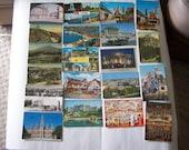 50 vintage European postcards