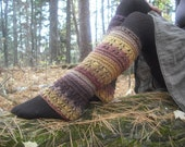 Wool Leg Warmers, Women's Leg Warmers, Knit Leg Warmers, Pixie Leg Warmers, Knitted leg warmers, Festival Leg Warmers, Autumn Colors