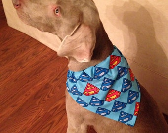 Dog Bandanna Superman Superdog Reversible