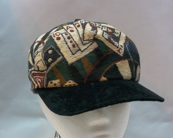 Card Players Tapestry Cap