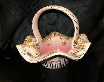 Hull Pottery Blossom Flite Basket