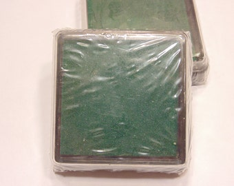 2 inch green ink pad, (A6)