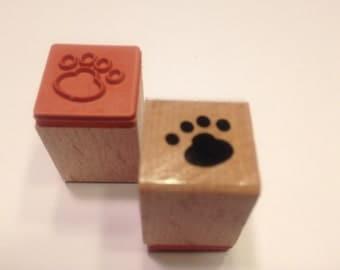 tiny dog print rubber stamp, 14 mm (BB4/1)