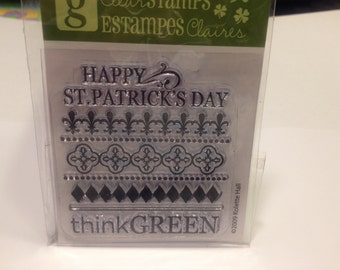 Happy st,Patrick's day clear stamp set, 60 mm (SB1)