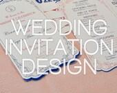 Custom Wedding Invitation Design - Reserved for HanMac92