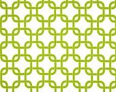 """Green Pillow Cover.Green Gotcha. Green Chain Pattern  Pillows.16"""",17"""",18"""",20"""" 24"""" 26"""", Lumbar Pillow or Euro Sham"""