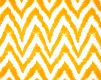 Yellow Table Runner-Modern Yellow & White Chevron Table Cloth