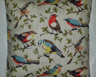 "Shabby Chic Cushion Cover in Cath Kidston Garden Bird 14"" 16"" 18"" 20"""