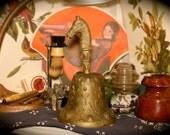 Antique Brass Horse Head Bell
