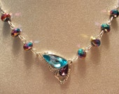Rainbow Butterfly Wing Necklace