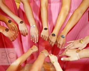 perfect bridesmaid gift | vine monogram oval engraved bracelet