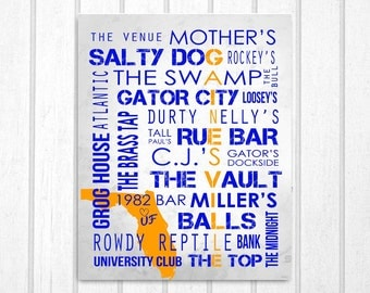 Gainesville FL Bars: University of Florida Print