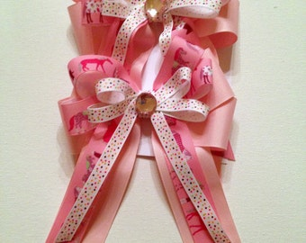 Girly-Girl Horse Show Bows, Equestrian Hair Bow, set of 2