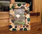 Lily Pond Embellished Picture Frame (holds 4x6 photo) by Kay Creatives