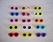 Brand New Vintage Collectible Mini Sunglass Pins Decorative 12 Pieces Random Colored Pins Retro Rare & Hard to Find