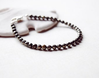 Faceted Pyrite Stacking Bracelet