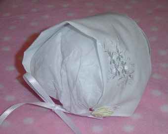 Keepsake Infant Hanky Handkerchief Baby Bonnet Hat