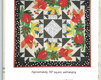 Save the Rain Forest Unused Quilt Pattern with Applique Templates