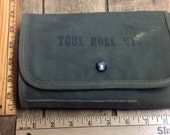 Vintage 1945 M10 Tool Roll from Browning 50 caliber machine gun. Great condition. INV-P982