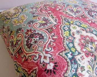 Boho Pillow, Indian Pillow, Moroccan Pillow, Kilim Pillow Cover, Paisley Pillow, Turkish Pillow, Decorative Pillow, Waverly Palace Sari