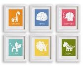 Safari Animal Nursery Art Prints - Baby Decor, Children, Toddler Room, Bright Wall Art for Nursery, Kids Decor, Girl Nursery, Baby Room