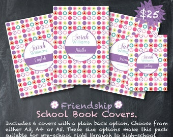 Custom School Book Covers - Friendship
