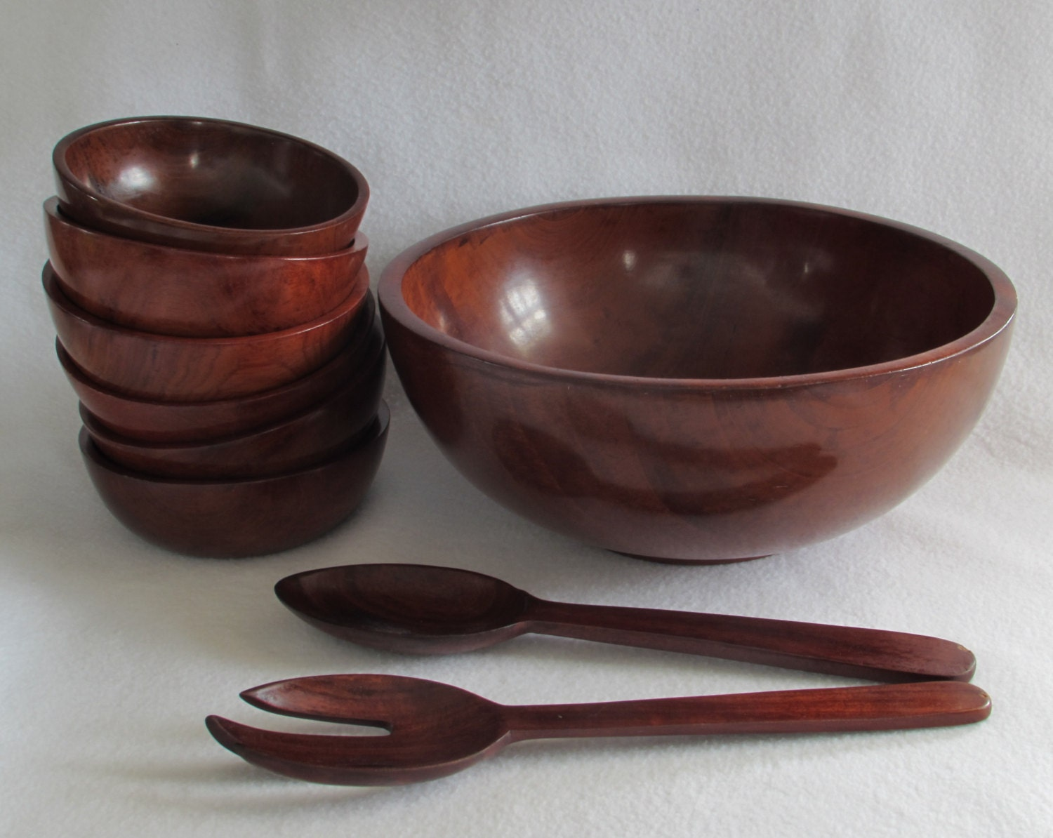 handmade wooden salad bowl 9 rich mahogany handcrafted wooden salad bowl serving 3797