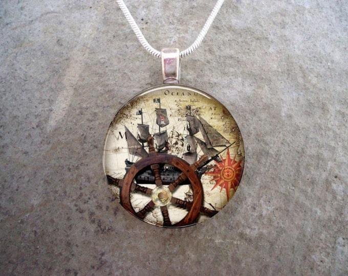 Pirate Jewelry - Glass Pendant Necklace - Pirate 24 - RETIRING 2017