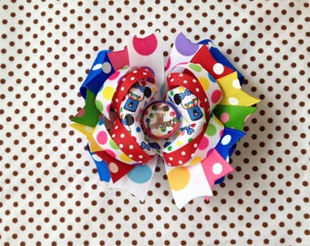 SALE! Ready To Ship Hairbow! So Sweet! Colorful, Minnie Mouse Hairbow, Minnie Gumball Machine Hairbow, Polka Dot Boutique Hairbow