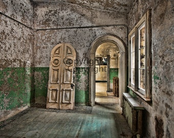 Chapel at Eastern State Penitentiary in Philadelphia PA, 8x10 Print, Fine Art Photograph,y Landscape Prison Wall Art, Gothic Decor