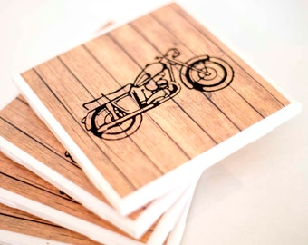 Motorcycle Coasters, gift for men, coasters for men