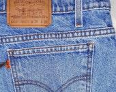 Vintage Classic Orange Tab LEVIS 505 Blue Jeans Regular Fit W 38 x L 30