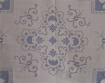 Lace Tablecloth All Cotton  64 in by 78 in