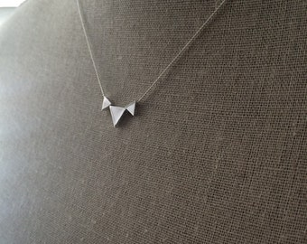 Love Triangle Necklace in rhodium