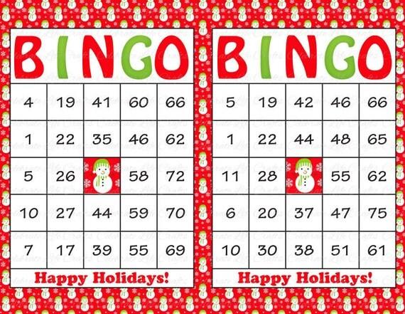 """Christmas """"Happy Holidays"""" Bingo Cards - DIY Printable Game Christmas ..."""