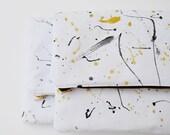 2 Splatter Clutches / Foldover Clutch / Handpainted Clutch / Canvas clutch / Clutch / Gold Clutch / Silver Clutch / Wedding Clutch