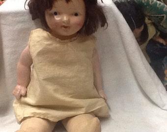 Vintage Straw Stuffed Doll