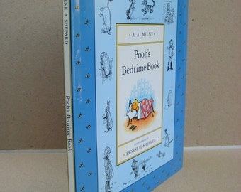Pooh's Bedtime Book,Vintage children's hardcoverbook, written by AA Milne, Illistrations by Ernest H. Shepard, childrens classic