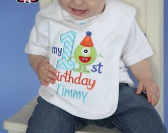 Monster Bib, Cake smash, Birthday bib, First birthday, First birthday bib, Birthday Gift