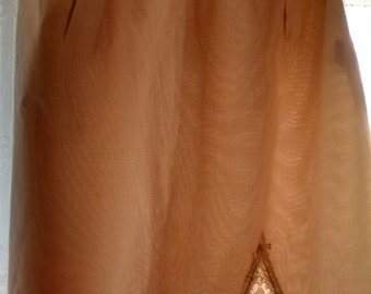 Warner's Beige Half Slip, size small