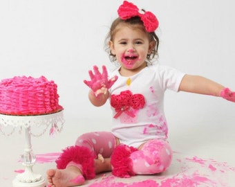 HOT PINK Polka Dot 3d Cupcake Onesie or T-Shirt Only - You pick size