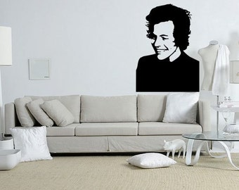 Harry Styles Singer Popstar and Icon of One Direction fame Wall Art Decal Sticker
