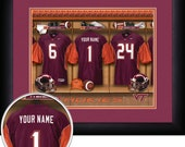 PERSONALIZED & FRAMED Officially Licensed Virginia Tech Hokies Football Sports Print