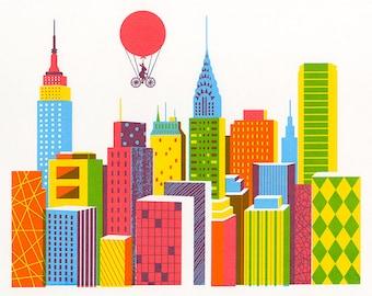New York, Original Screenprint