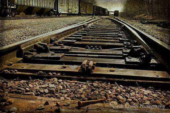 Photography, Railroad Nail, Railroad, Fine Art, Trains, Landscape, Photo, Office Decor, Housewarming Gift, Home Decor, Living Room Decor