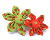 Christmas Confetti Flower for Dog Collar
