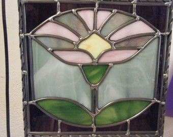Art Nouveau flower panel