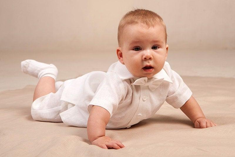 Mariage Plage Costume Homme : Tenue de baptême b� garçon linge blanc par graccia